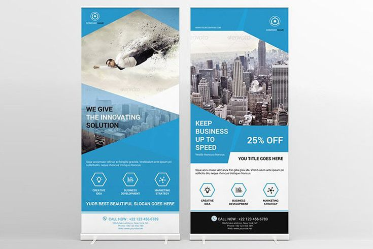 RollUp Banner | Corporate Business Rollup banner | InDesign and Illustrator Template