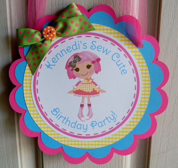 Lala Rag Doll Birthday Party Door Sign by sweetheartpartyshop, $12.00
