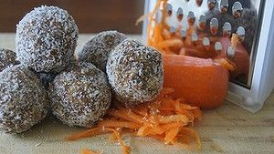 No bake carrot cake balls