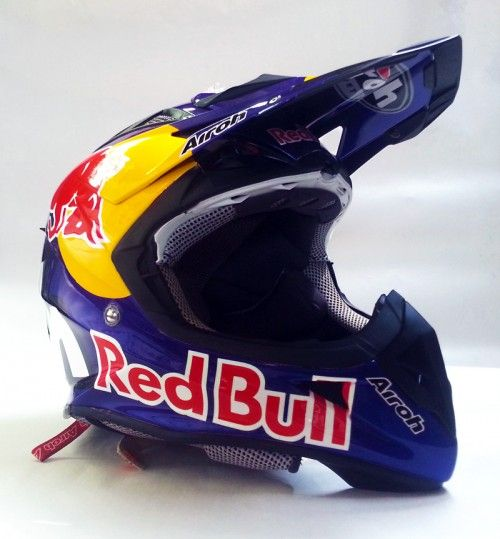 Airoh Red Bull Star Arts Design Red Bull Helmet Motorcross