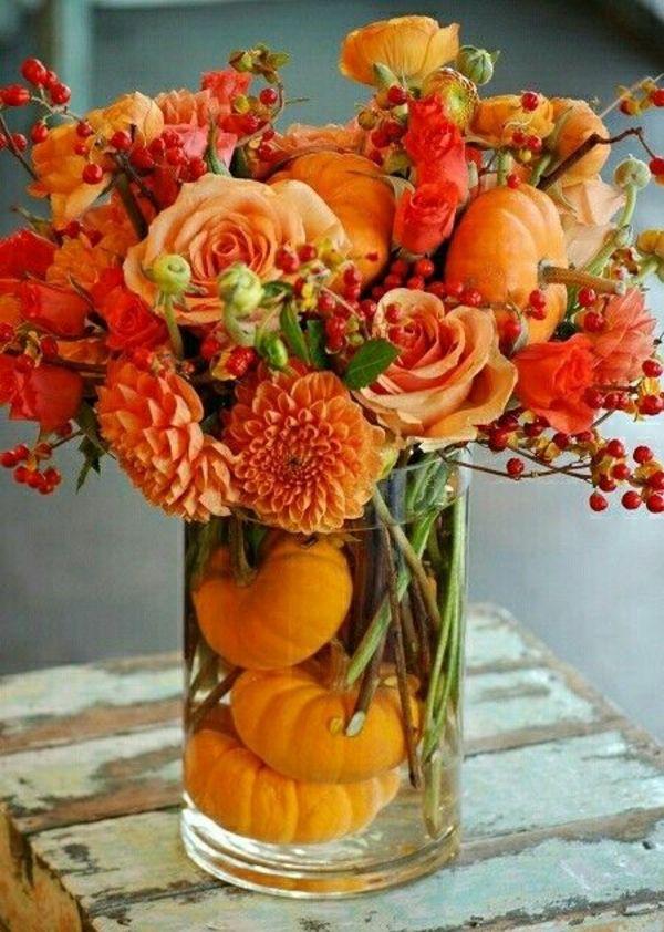 Herbstblumen als Haus- oder Tischdekoration einsetzen- tolle Beispiele