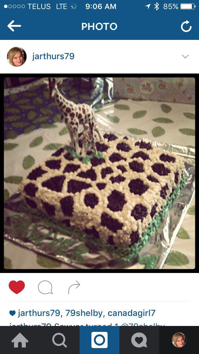 Giraffe cake for Sawyer