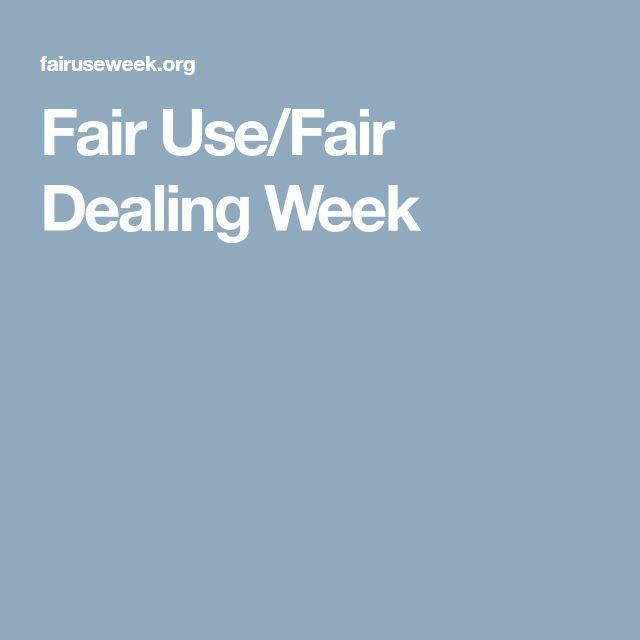 Fair Use/Fair Dealing Week