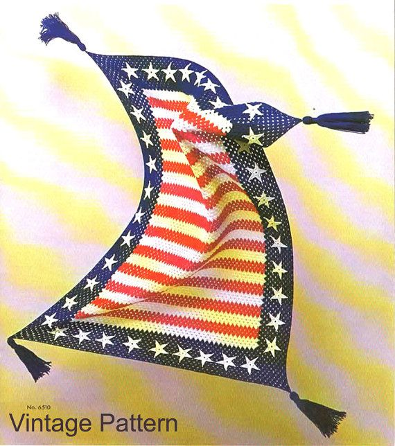Crochet Pattern  Crochet Star Blanket Afghan PDF by OurSunShine, $3.00