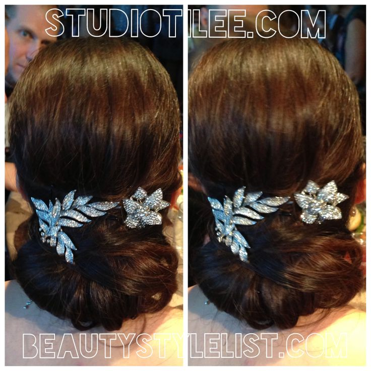 Classic hair chignon updo hairstyle