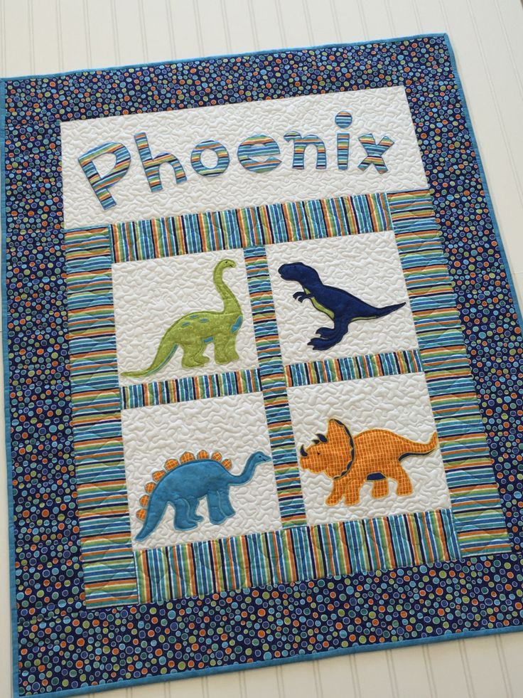 24 best Dinosaur images on Pinterest | Blankets, Events and ... : dinosaur baby quilt - Adamdwight.com