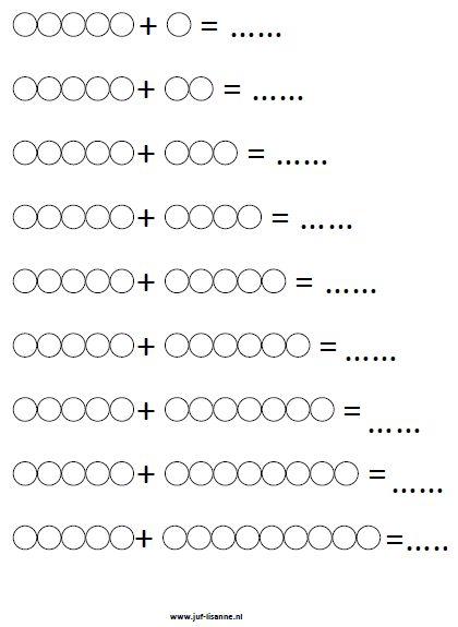 www.juf-lisanne.nl Blanco Montessori kralenstaafjes sommen werkblad 5 / Blank Montessori bead bar math worksheet 5