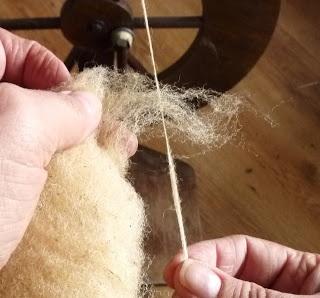 DE GULLE AARDE: spinnen met schapenwol