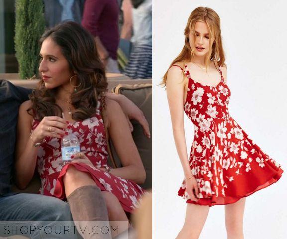 Crazy Ex Girlfriend: Season 1 Episode 9 Valencia's Red FLoral Dress