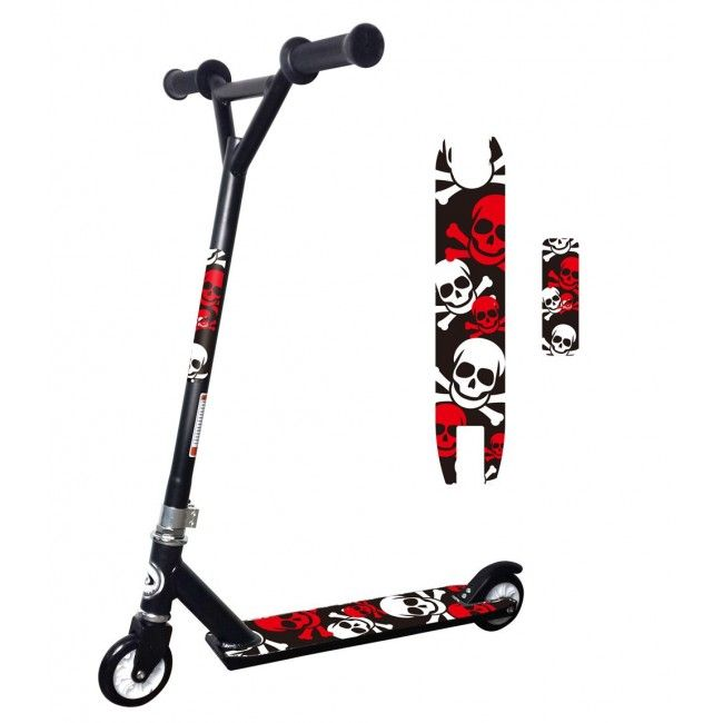 Neo Red and Black Stunt Scooter