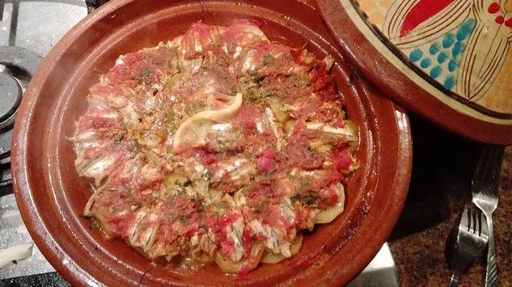 Tajine met ansjovis - Deze tajine zit vol smaak dankzij de heerlijk zoute ansjovis. Tevens bevat ansjovis gezonde vetten, een gezond recept dus!