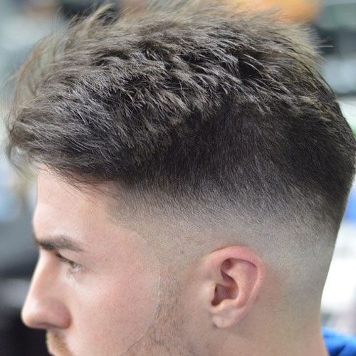 Mid Fade With Textured Top Mens Hairstyles Short Mens Hairstyles Haircuts For Men