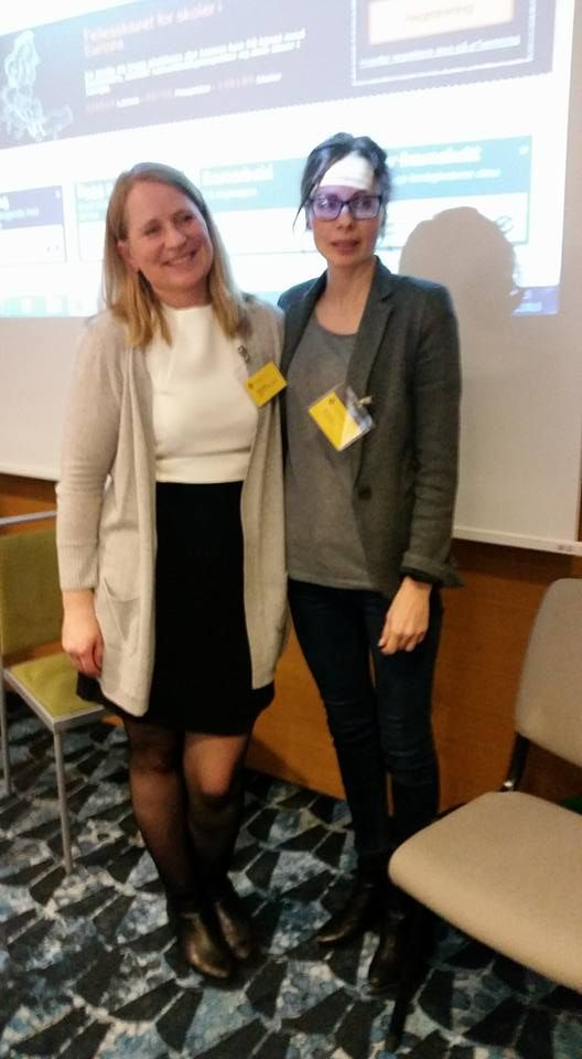 Presenting eTwinning with Mia in Helsinki. November 2015.
