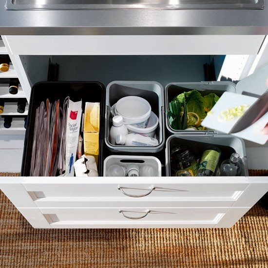 ikea recycling bins a simple sorting system in your kitchen is the trick to making recycling a on kitchen organization recycling id=92146
