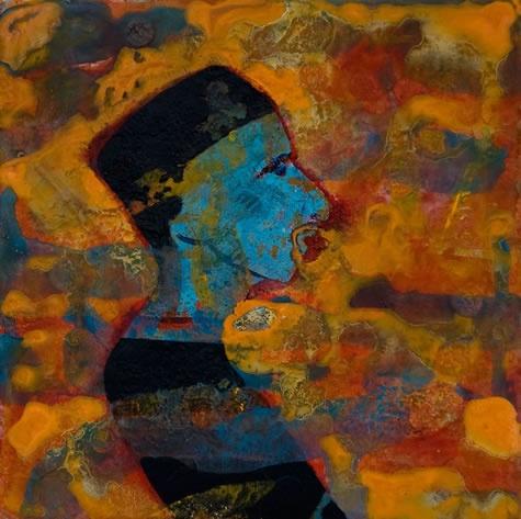 Profil / Akryl 2010 / 20x20cm