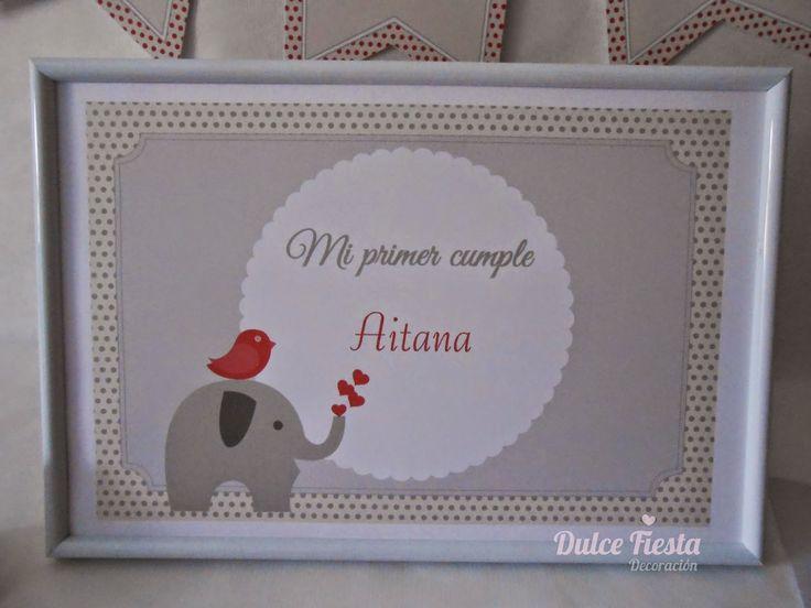 Kit de decoración personalizada Elefante