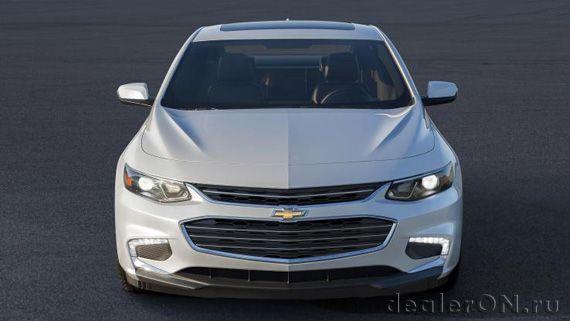 Седан Chevrolet Malibu 2016 / Шевроле Малибу 2016 – вид спереди