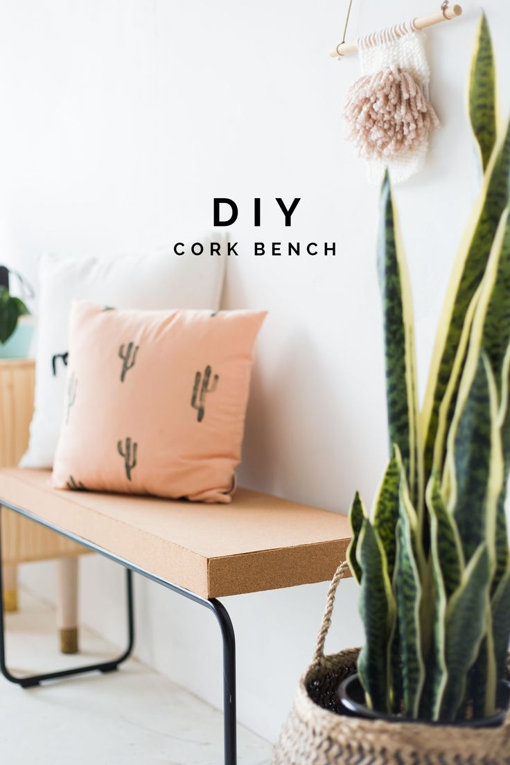 Make this DIY Cork Bench and makeover your old furniture