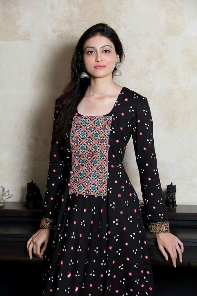 Beautiful bandhini kurti!