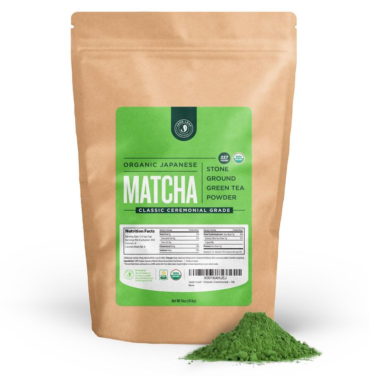 Jade Leaf - Organic Japanese Matcha Green Tea Powder, Ceremonial Grade (For Sipping as Tea) - [1lb Bulk Size]