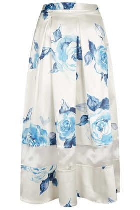 Rose Organza Insert Calf Skirt