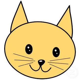 Simple Cartoon Cat Faces