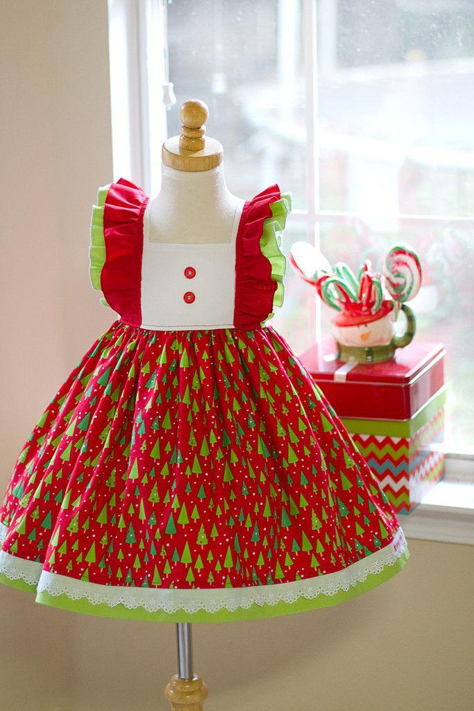 Girls Classic Oh Christmas Tree Dress – Kinder Kouture