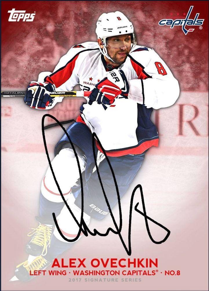 Topps NHL Skate Topps Signature Series Alex Ovechkin