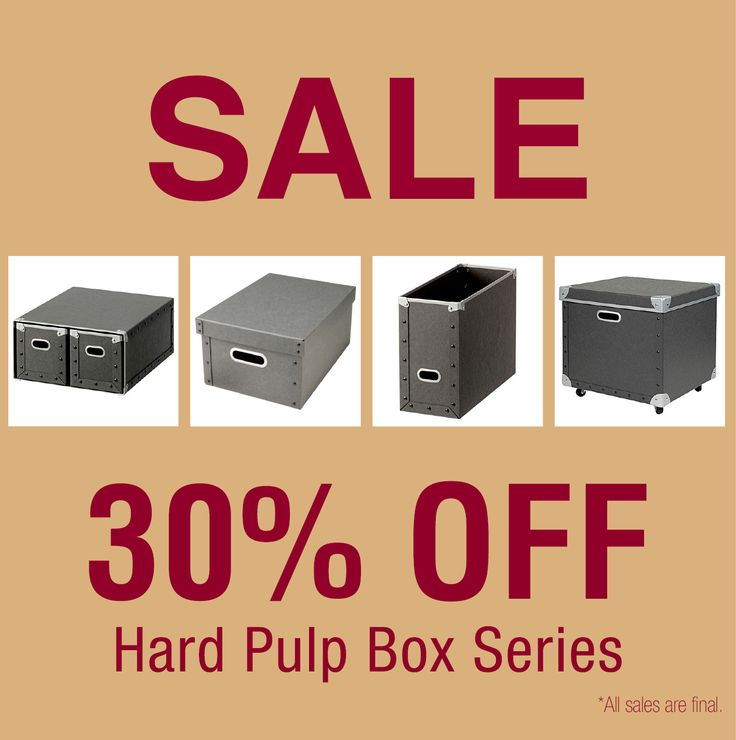 [Sale] 30% off Sale for Hard Pulp Box Series http://www.muji.us/store/storage/muji-hard-pulp-boxes.html