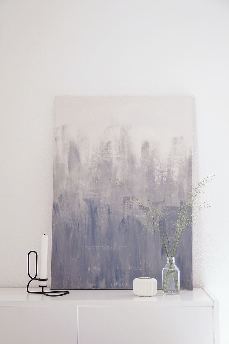 DIY ombre grey painting | affordable ideas for scandinavian style decoration and interior