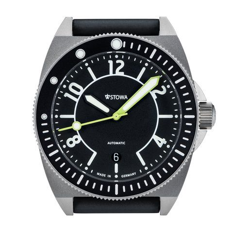 Stowa Seatime Black Forest Limited Edition - Titanium case, lime hands and special bezel.