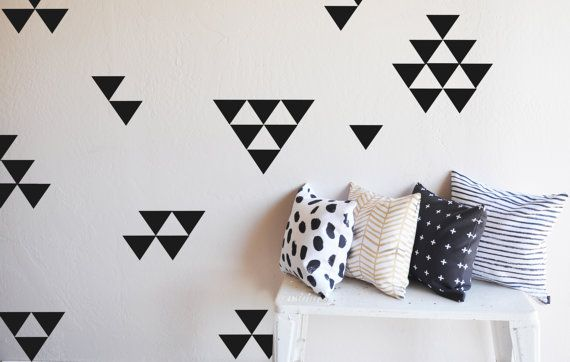 Medium Solid  Triangles   WALL DECAL by TheLovelyWall on Etsy