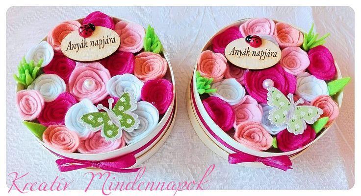 Mini virágdobozok Anyák Napjára