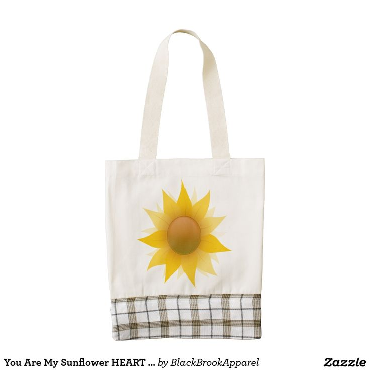 You Are My Sunflower HEART Tote Zazzle HEART Tote Bag