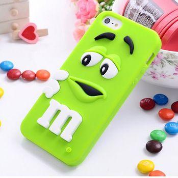 Capa para o iphone 4 4S, bonito dos desenhos animados colorido bonito M & M saco de doces capa de celular capinha para capa de Silicone para iPhone 4 / 4S carcasa funda coque