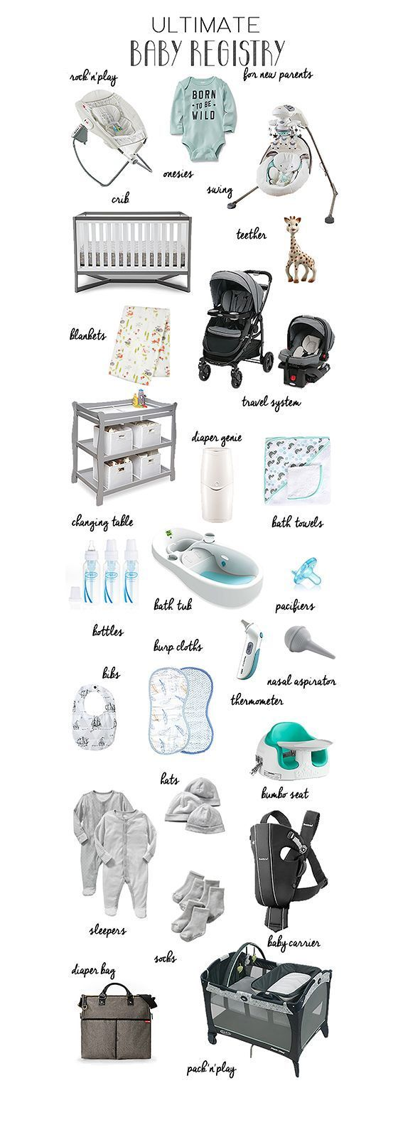 Ultimate Baby Registry for New Parents | A list of everything you really need | Newborn Necessities | Baby registry must haves | Baby registry checklist | 2015