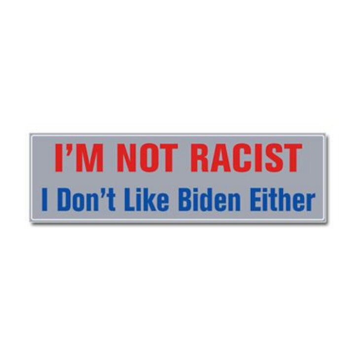 Tired of the race card constantly being pulled i definitely need this bumper sticker