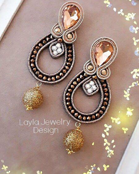Soutache earrings #orecchini #earrings #handmade #jewels #jewelry #nausnice #minđuše #uhani #oorbellen #örhängen #pendientes #auskari #auskarai #accessori #accessories #cercei #oorbellen #örhängen #eyrnalokkar #uhani #moda#jewels #bijoux#bijuterias #accessori #