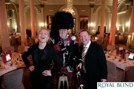 Karen Dunbar, Paul Riley and Piper Jim at Rabbie's Girls 2013.