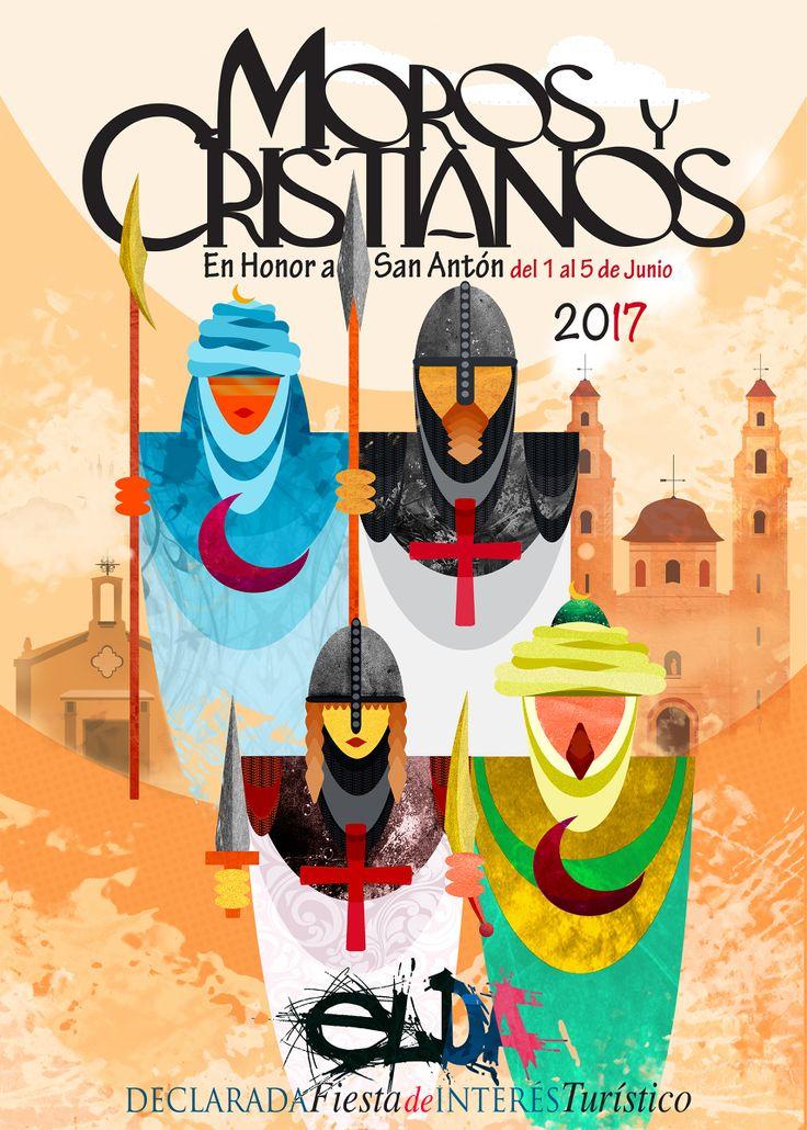 Cartel Finalista a Concurso  Fiestas de Moros y Cristianos de Elda 2017