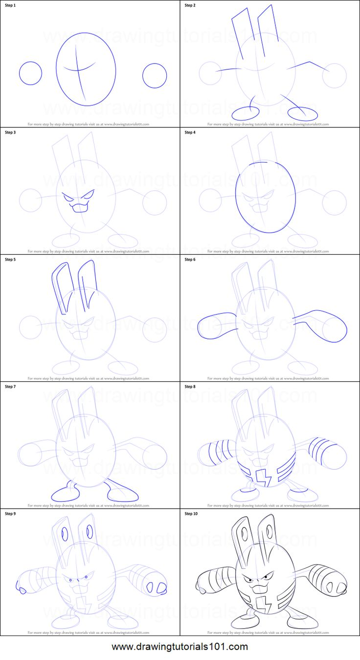 How to Draw Elekid from Pokemon printable step by