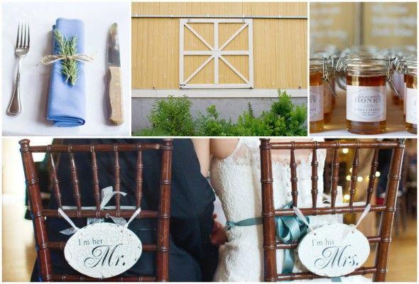 Rustic wedding favors & table ideas.