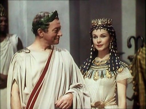 """CAESAR AND CLEOPATRA"" (1945) with Vivian Leigh as Cleopatra and Claude Rains as Julius Caesar, an adaptation of the work by George Bernard Shaw, also with Stewart Granger as Apollodorus and Basil Sydney as the loyal Rufius. Vivien Leigh as Cleopatra takes another sublime and well nuanced performance that progresses from the frightened teenager to an imperious queen with a real understanding of absolute power."