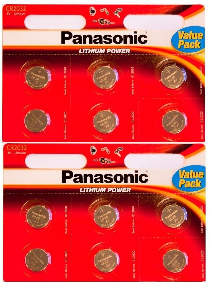 Panasonic - Piles bouton Lithium CR-2032 - Pack de 12: Amazon.fr: High-tech