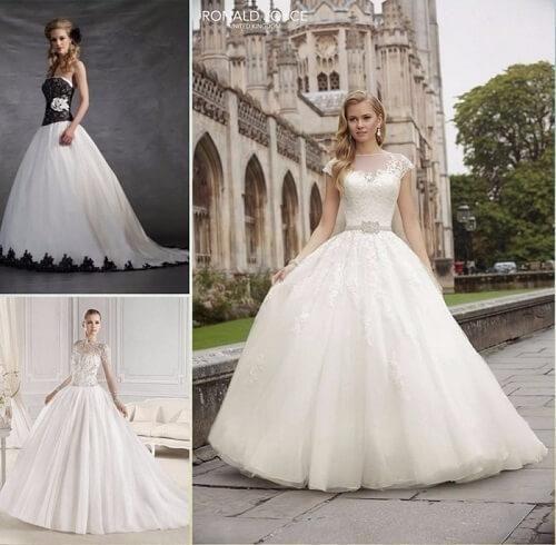 Tipos de vestidos de novia más vendidos
