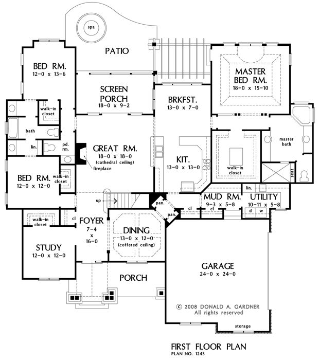The Evanston House Plan Plan# W-1243