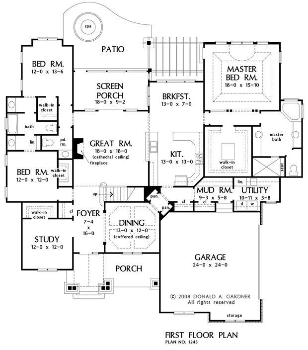 The evanston house plan images see photos of don gardner for Don gardner floor plans