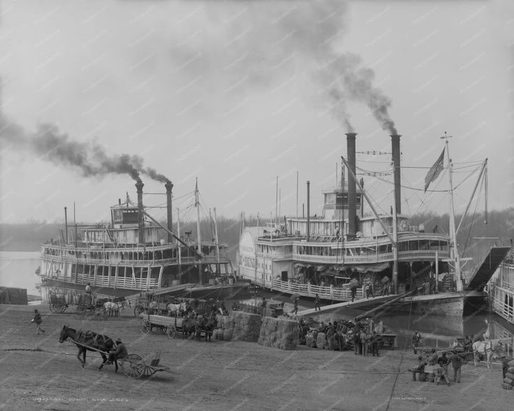 Mississippi Steamship Landing 1900s 8x10 Reprint Of Old Photo