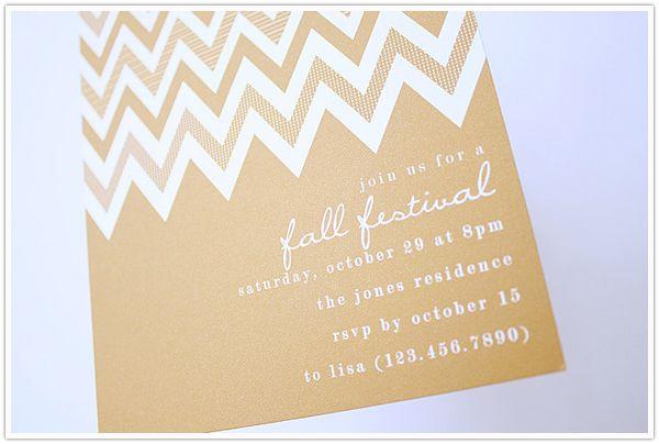 fall invitation etsy stationery chevron: Chevron Patterns, Invitations Ideas, Camille Style