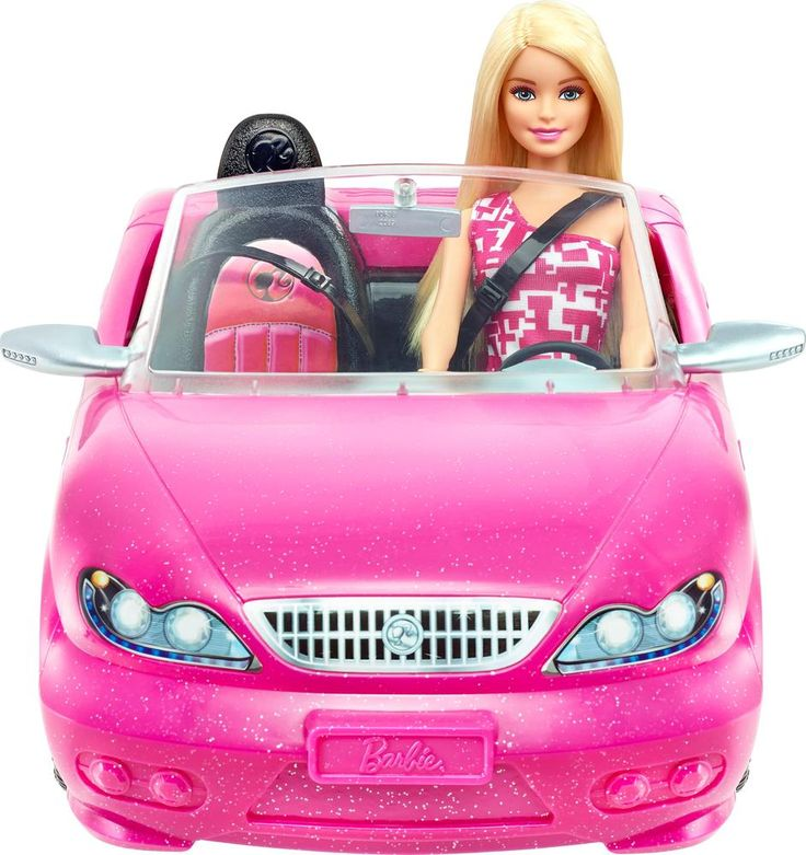 Mattel - Barbie Doll and Glam Convertible Car - Pink